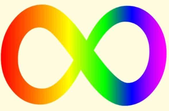 simbolo arco íris neurodiversidade